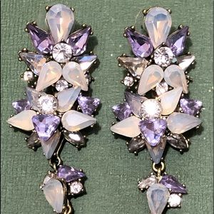 "BaubleBar Crystal Drop Earrings 3"" Long New $54"